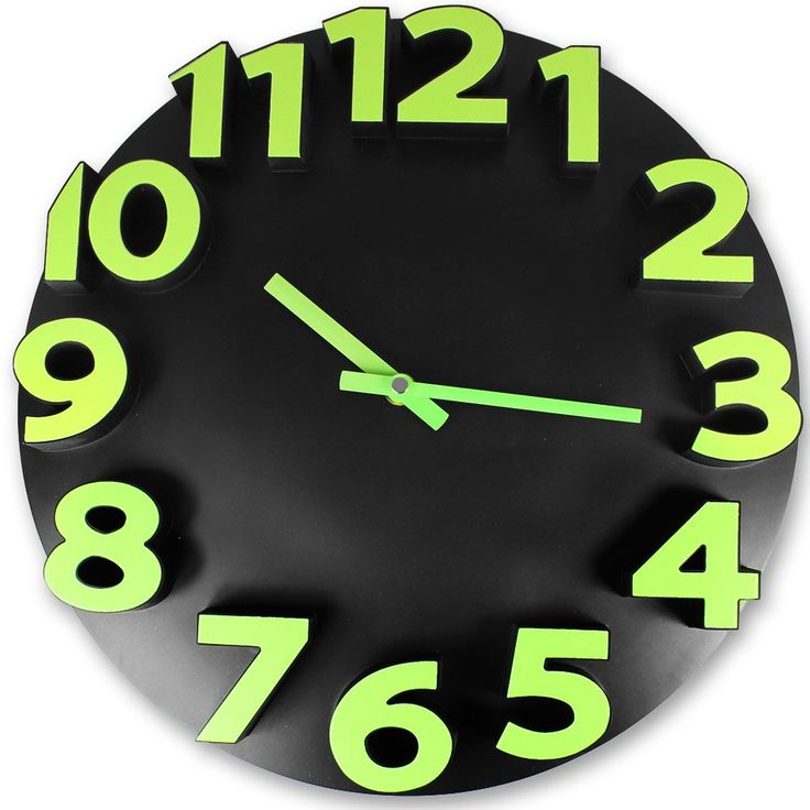 Horloge Applique En Metal Noire Kensington