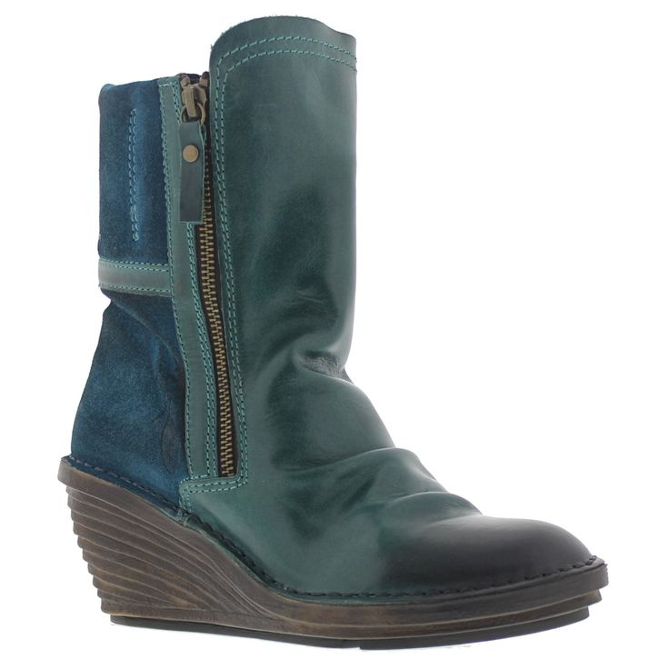 Fly London Simi Petrol Womens Boots