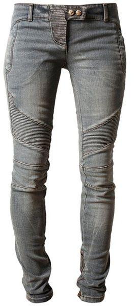 Denim Biker Jeans - Lyst