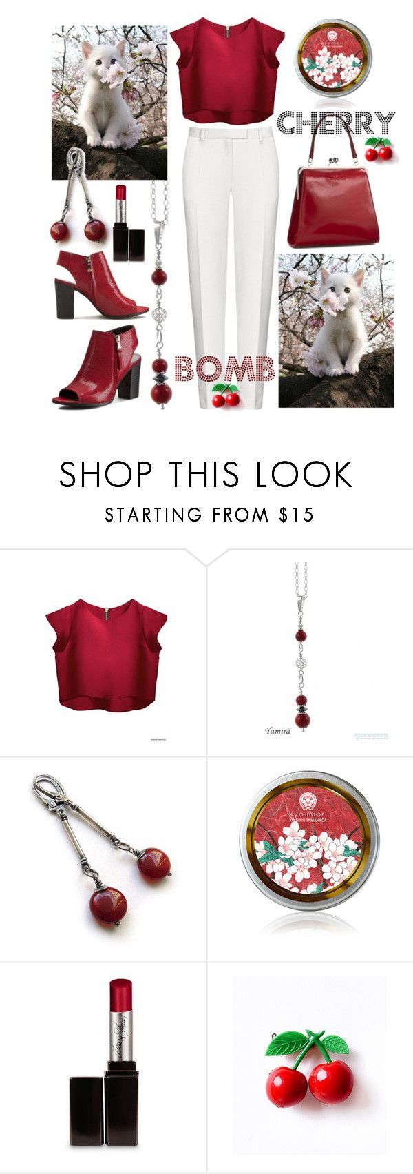 """Cherry kitty bomb ;-)"" by amisha73 ❤ liked on Polyvore featuring Laura Mercier"