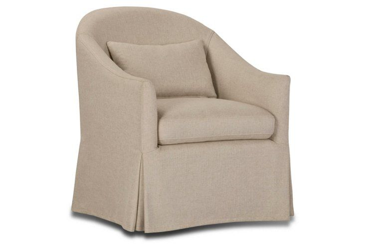 Baily slipcover swivel chair natural chair slipcovers