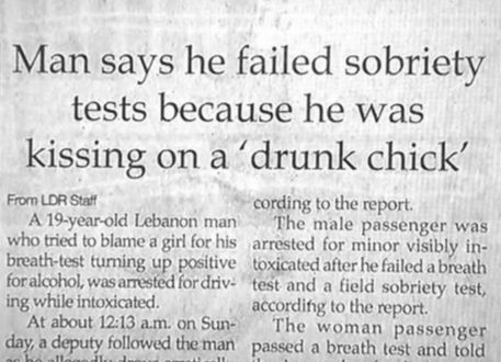 Funny stories from the newspaper