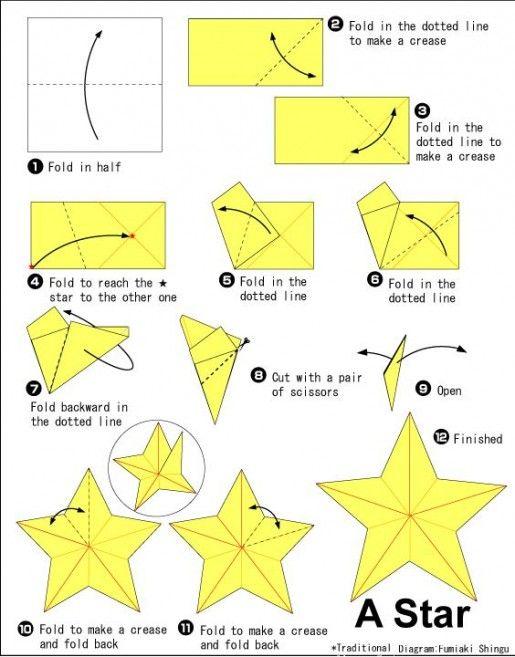star origami tutorial - Google Search