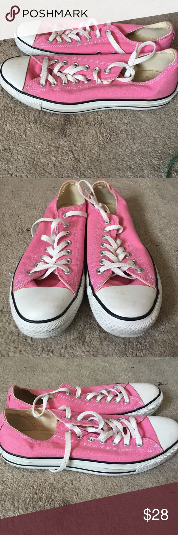 Converse all star size W 11.5 M 9.5 Purchased from the Converse store worn one time to Disneyland fit is true to size size 11 1/2 women and 9 1/2 men's Converse Shoes Sneakers