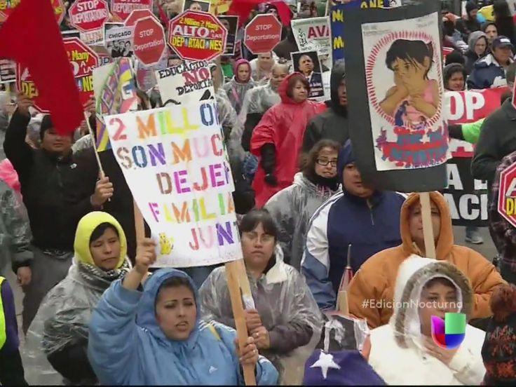 miles marcharon para inmigracion