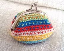 Tapestry crochet coin purse