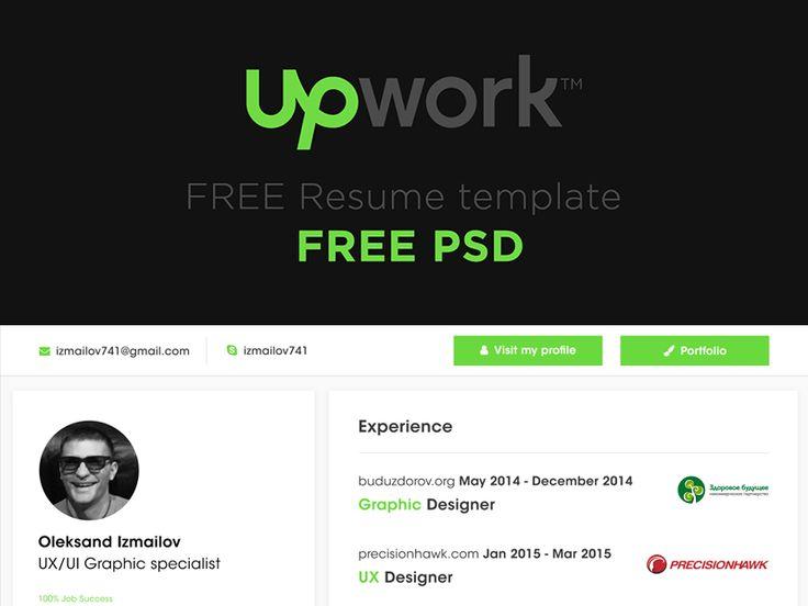 Free resume template for freelancers from up-work by Oleksandr Izmailov