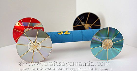 This rubber band car tutorial comes from my new book, Rubber Band Mania. It's easy to make and super fun to play with. Make a couple and have races!