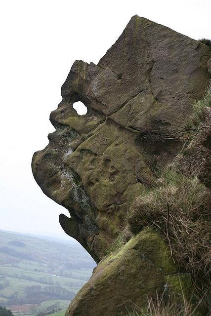 The Winking Man. Ramshaw Rocks, The Roaches, Peak District.