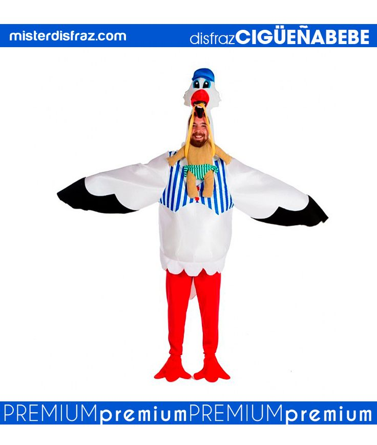 Disfraz de Cigüeña con Bebé Hombre.   Con este original disfraz de Cigüeña lo pasarás muy bien en tus celebraciones. Crea un grupo y seréis la diversión del momento.  #disfraz #disfraces #disfracesoriginales #disfracesdivertidos #disfracescachondos #disfracesgraciosos #disfrazadulto #disfrazcigueñaconbebe #cigueñaconbebe #carnaval #premium #disfracespremium #premiumoriginales #misterdisfraz