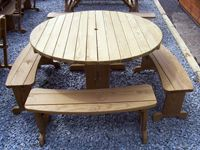 "Amish Yard - 54"" Round Picnic Table Set (CL), $359.00 (http://www.amishyard.com/products/54-round-picnic-table-set-cl.html)"