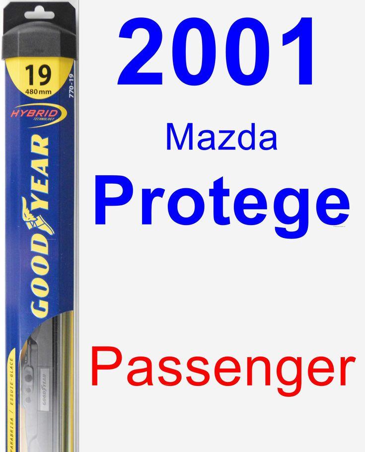 Passenger Wiper Blade for 2001 Mazda Protege - Hybrid
