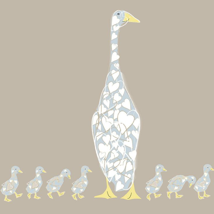 Sophie Morrell - Mother Duck £3.00 greeting card