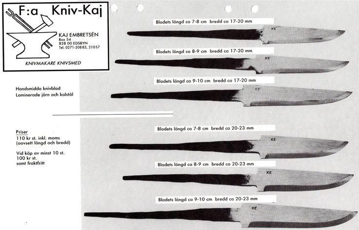 Tre handgjorda knivar på Tradera.com - Knivar från Skandinavien | Knivar