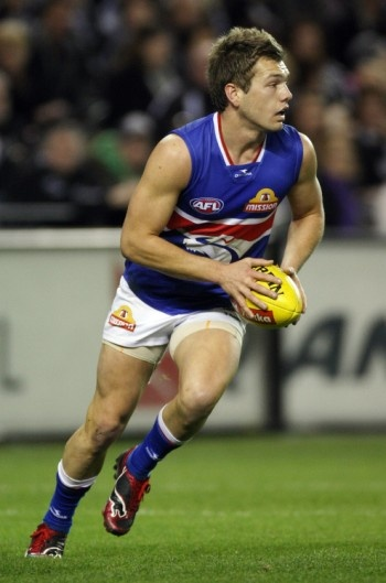 Western Bulldogs rugby player Shaun Higgins out with foot injury.
