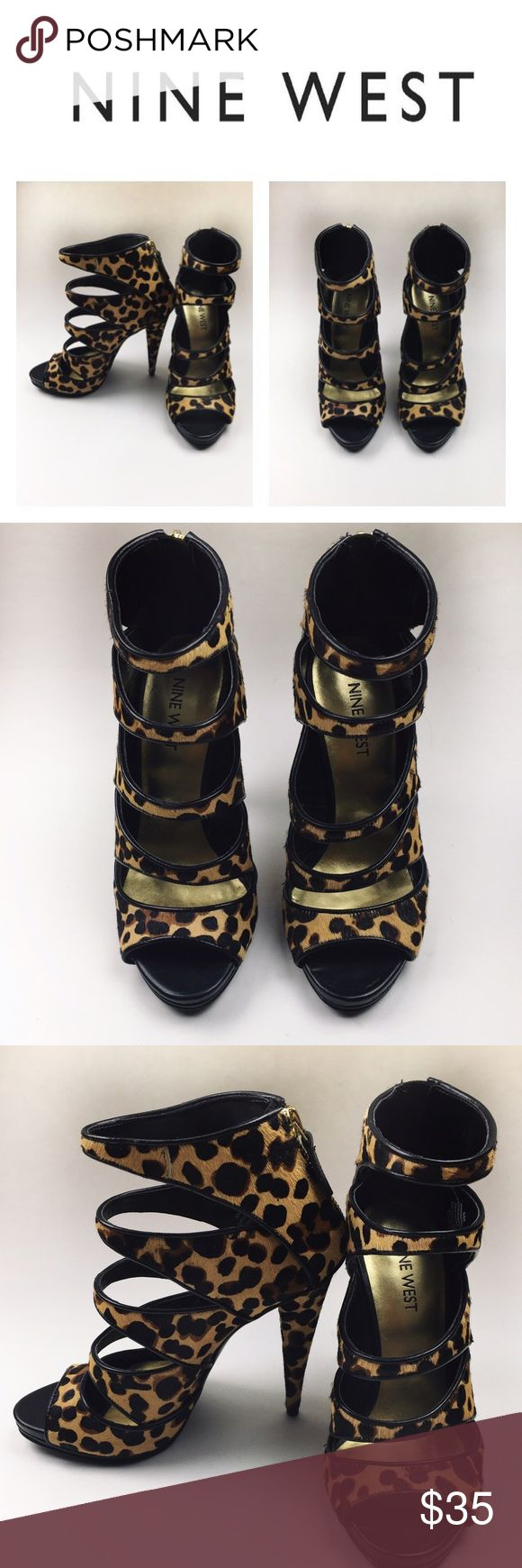 🐆Nine West striped leopard sandal Divine Nine West multi stripes leopard sandal, perfect for any occasion, making you look sexy! It's a new item, comes without box so it might have some handling signs, NEVER WORN size 5.5 Nine West Shoes Sandals