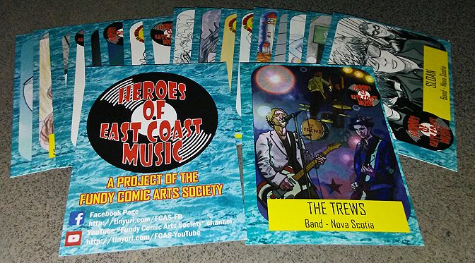 Giving away a set of the Heroes of East Coast Music trading cards by the Fundy Comic Arts Society that we posted about the other day . To enter, like this post.  Running this contest on all our social media accounts - here, Twitter, Instagram, Facebook, and on our blog - so if you're following us elsewhere, also like those posts and you're entered again. Runs to June 30th at 8:00 pm EST.