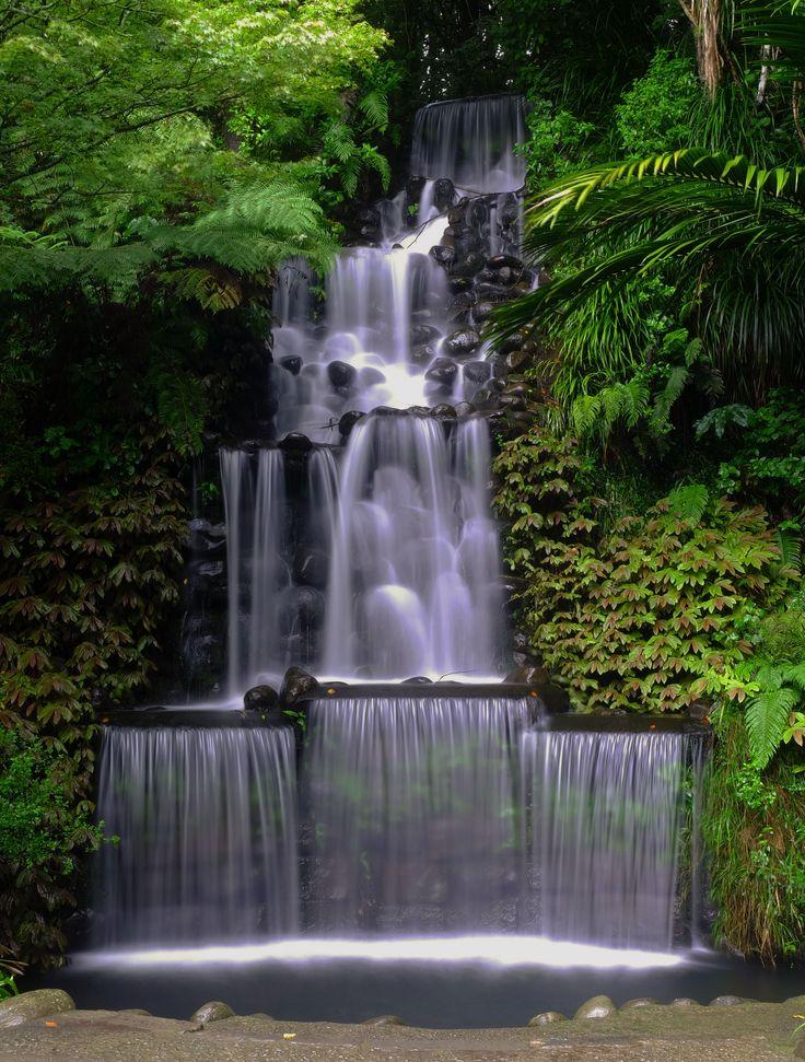 Pukekura Park Waterfall, New Plymouth, New Zealand