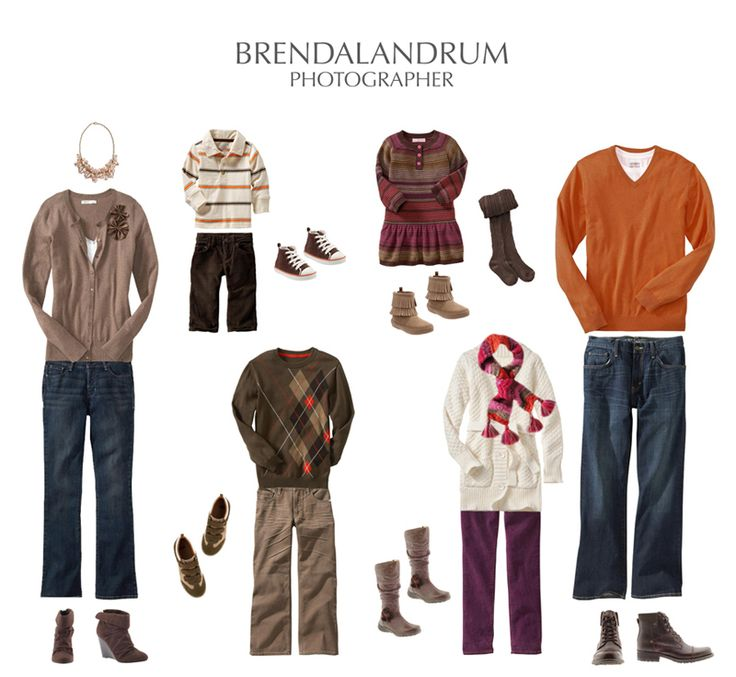 what to wear for family pictures | What to Wear for family portrait with fall colors of orange, chocolate ...