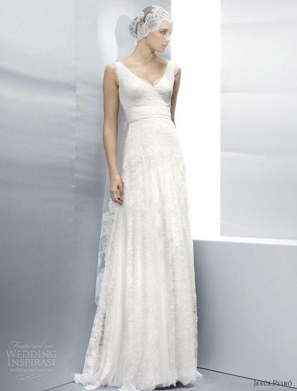 jesus peiro wedding dresses 2013 sleeveless all over lace sheath