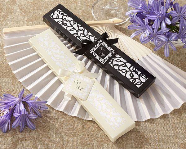 Luxurious Silk Fan in Elegant Gift Box (Set of 4) $12.15 for 4. Optional Tag $0.38 each