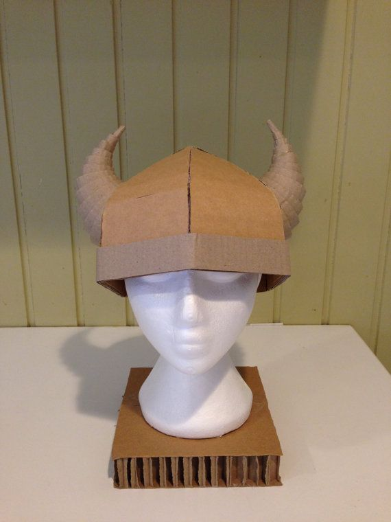 Kids Cardboard Viking Horned Helmet small by ZygoteBrownDesigns