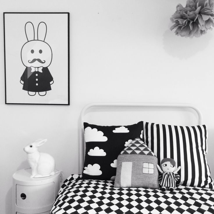 Black And White Boys Room: Black & White Kids Room, MiniWilla Print, Beau Loves