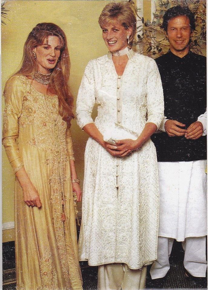 Imran Khan, Jemima & Lady Diana