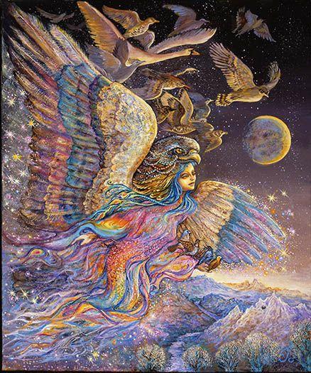 Liven Your Walls Paintings Tierra Este: Ariels Flight By Josephine Wall