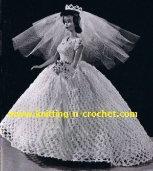 The 25 best crochet wedding dresses ideas on pinterest diy free crochet wedding dress pattern beautiful wedding gown in crochet for dolls junglespirit Image collections