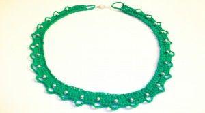 Free Crochet Pattern: Festive Necklace by Candace at crochetspot