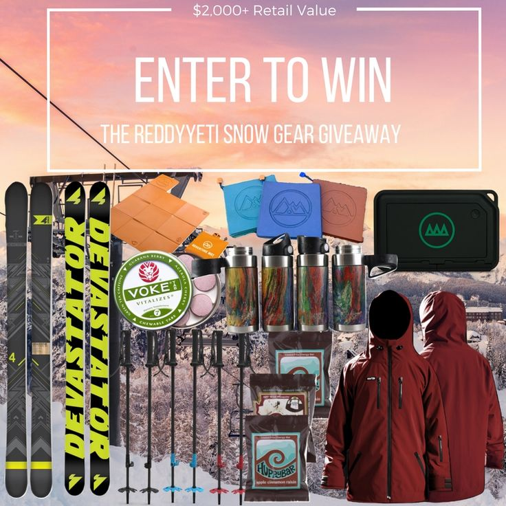Enter to win a pair of skis from 4FRNT Skis + gear from Northwest Tech, Char Poles, Liquid Hardware, Gnarbox, Adventure Mat, Voke Energy and Huppy Bar)  ($2,000+ in Prizes)