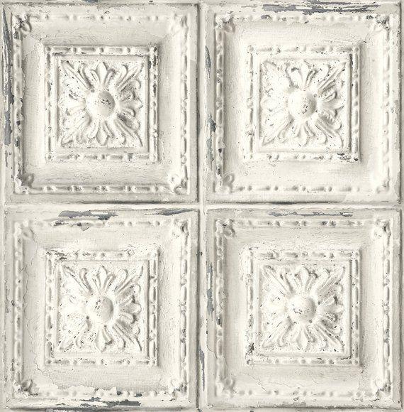 Self Adhesive Peel And Stick Wallpaper Tile Peel And Stick Etsy Tin Tiles Peelable Wallpaper Tin Ceiling