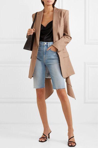0119171fbf FRAME - Le Vintage Bermuda frayed denim shorts in 2019 | Styled ...