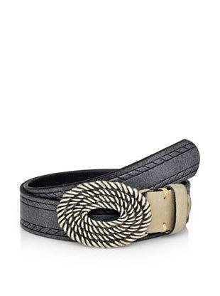 Robert Graham Men's Hallock Espadrille Rope Buckle Belt