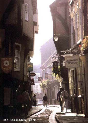 Great shot of The Shambles Medieval street in York, UK