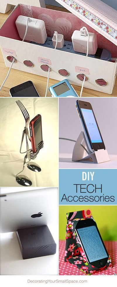DIY Tech Accessories  침실 아이디어, 테크 및 아이디어