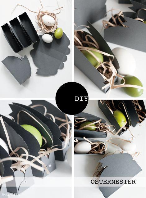RAUMIDEEN: DIY-IDEE Hasennester / Osternester