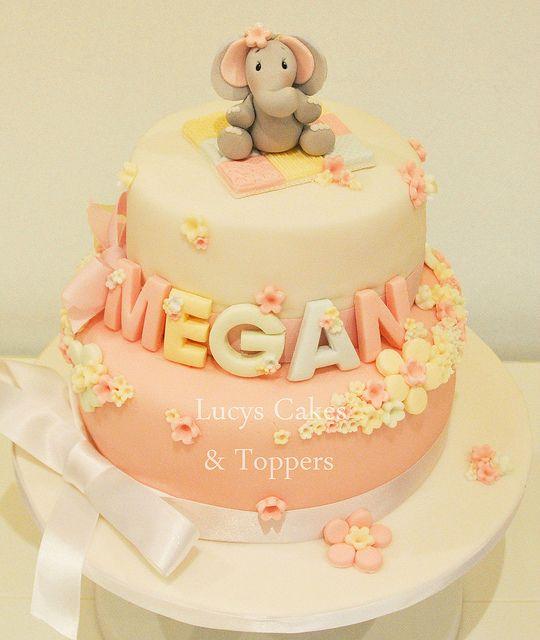 Elephant christening cake by www.lucys-cakes.com, via Flickr