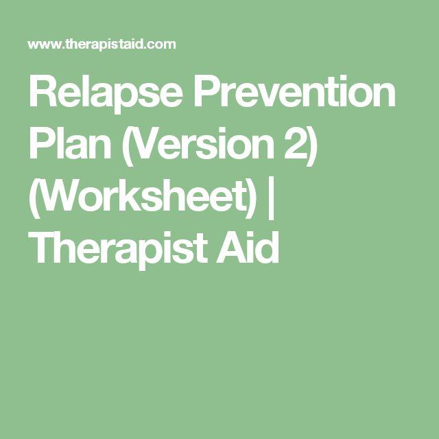 drug relapse prevention plan pdf