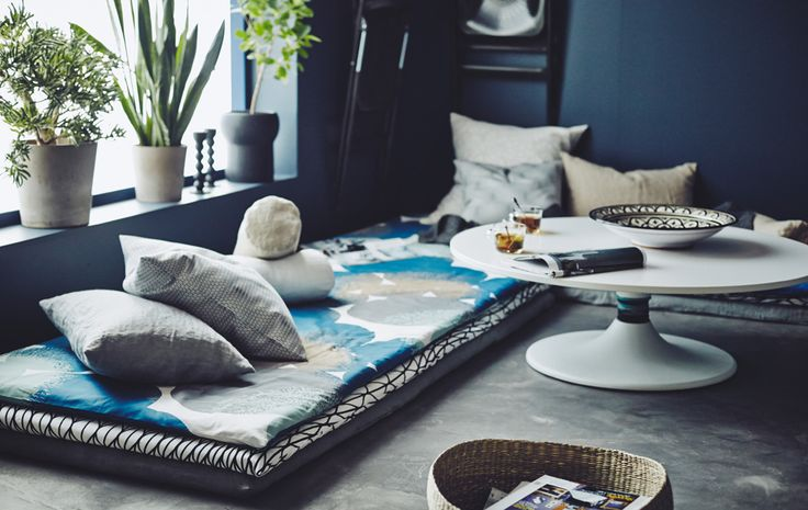 Personalise your lazying about space by sewing your own mattress covers using your favourite metre fabric.