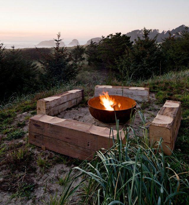 17 meilleures id es propos de brasero de jardin sur for Construire un foyer exterieur en pierre