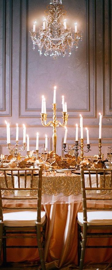 Rent or borrow 2 or 3 big candelabras! Like lumiere!!