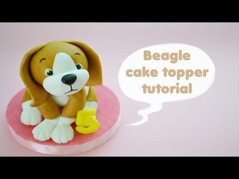 HOW TO BEAGLE DOG CAKE TOPPER FONDANT - TUTORIAL CANE BEAGLE TORTA DECORATA IN PASTA DI ZUCCHERO - CakesDecor