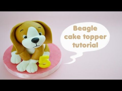 Fondant Dog Cake Topper How To - Max's Cake Studio - YouTube