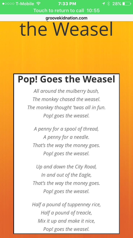 pop goes the weasel deutsch