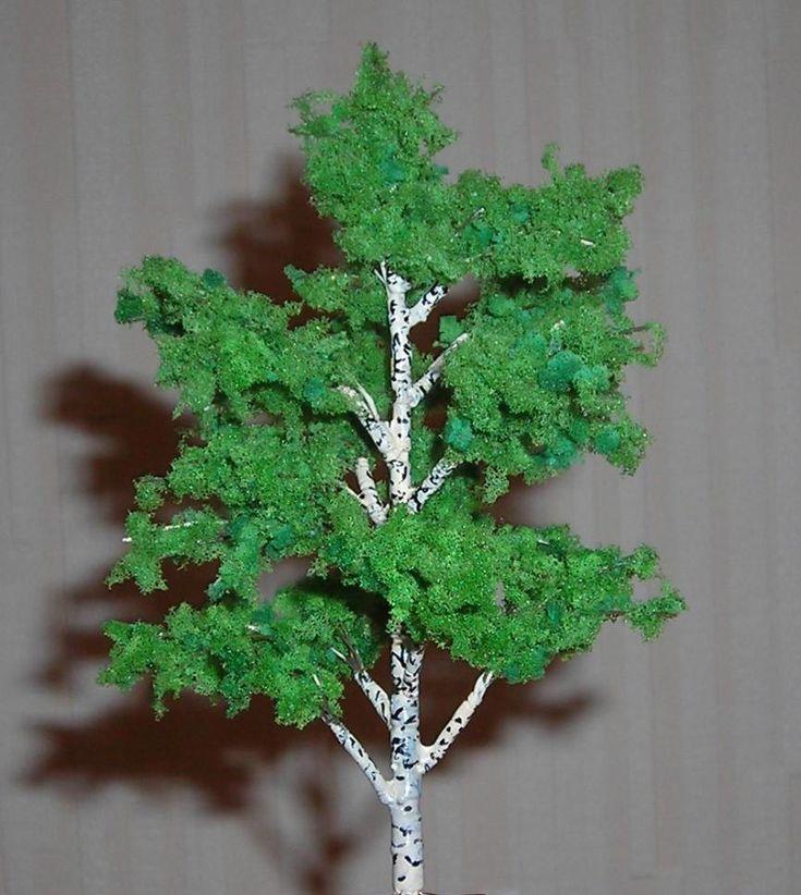 Как сделать деревья для макета своими руками