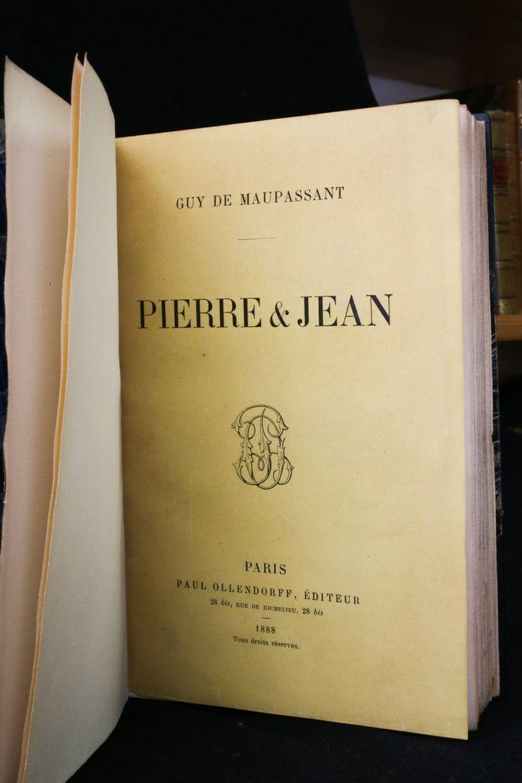 Maupassant  Pierre Et Jean Couvertures Conserv�es