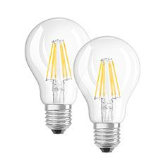 OSRAM 2er Pack 6-W-Filament-LED-Lampen, E27, warmweiß