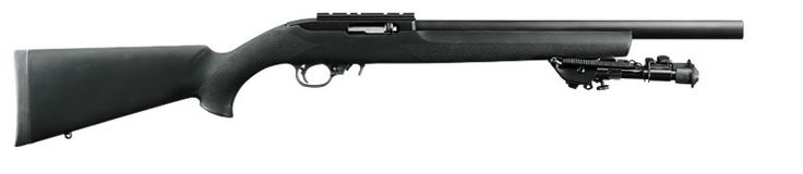 Ruger 10/22 Tactical w/Hogue overmold stock and Bull barrel. In the process of doing this to my 10/22